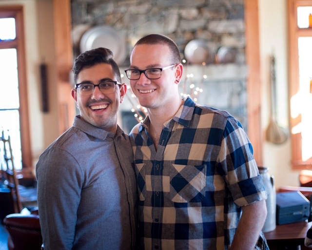 My son Kyle and his soon-to-be hubby, Kevin